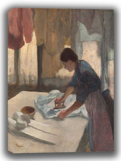 Degas, Edgar: Woman Ironing. Fine Art Canvas. Sizes: A4/A3/A2/A1 (003779)